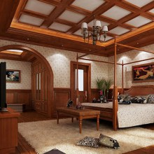 Neo classical wooden ceiling