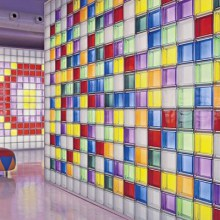 coloured glass blocks