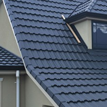 dark grey tile profile roofing sheet