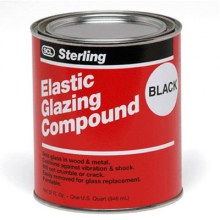 elastic glazing compound