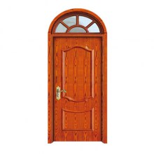 oval wooden grain panel door