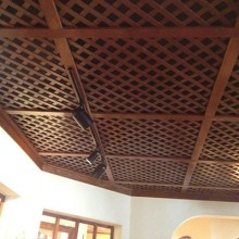 wood ceiling diamond pattern